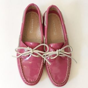 Pink Patent Sperry Topsiders